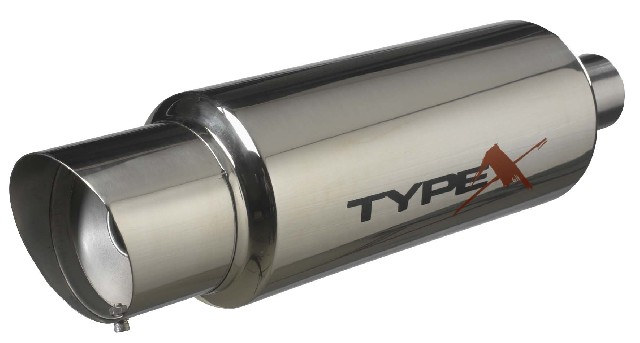 Stainless Steel	Universal Stainless Steel Muffler Apexi Style 6 Inch