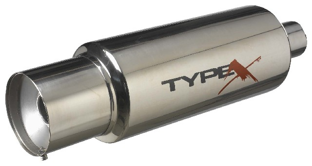 Stainless SteelUniversal Stainless Steel Muffler Bomb Style 6 Inch