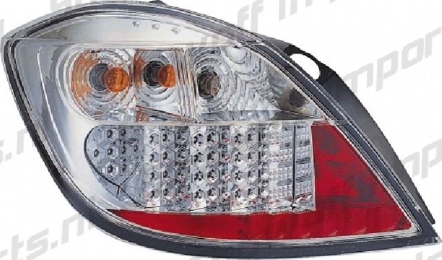 Opel Astra H 04+ 5D Chrome LED Taillights