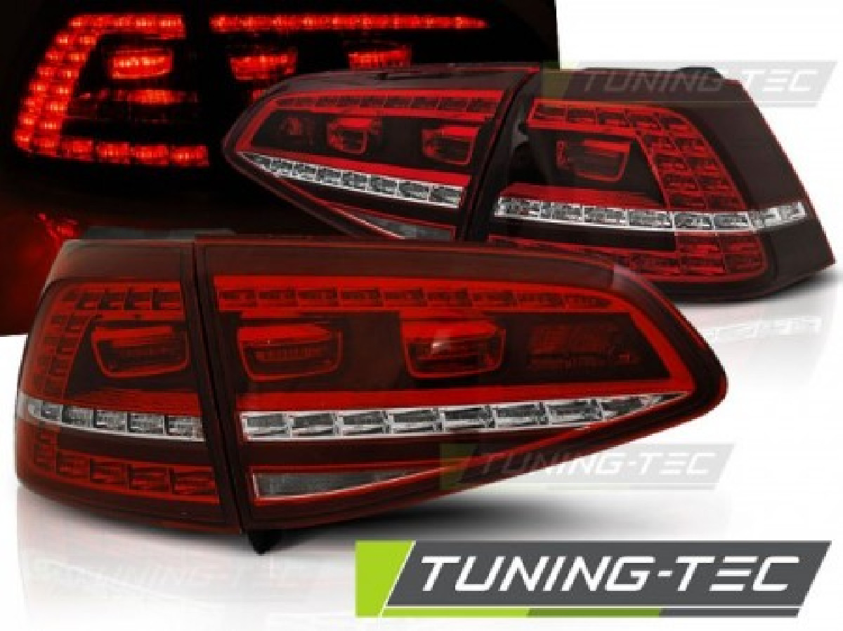 VW GOLF 7 13- RED WHITE LED GTI LOOK