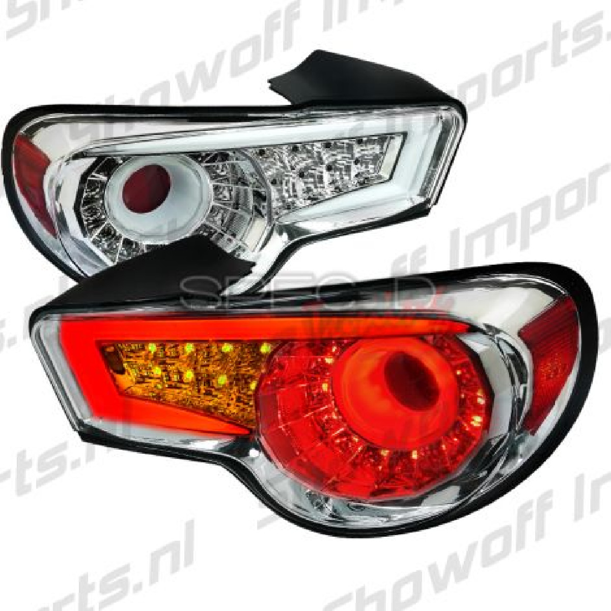 Subaru BRZ Chrome/Clear LED Taillights [SR]