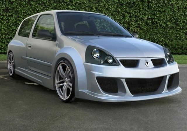 Breitbau Bodykit MOHAVE WIDE Renault Clio 2 Phase 2 3T (01-06)