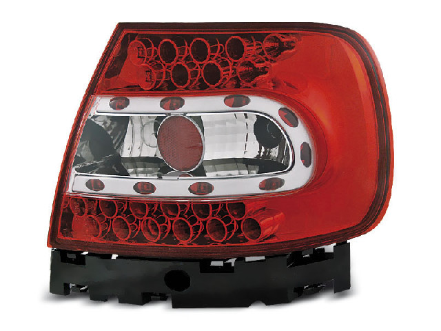 LED TAIL LIGHTS RED WHITE fits AUDI A4 B5 11.94-10.00