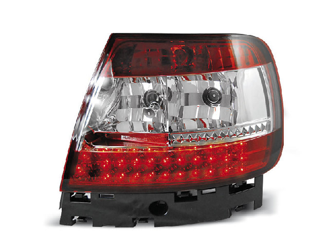 LED TAIL LIGHTS RED WHITE fits AUDI A4 B5 11.94-09.00