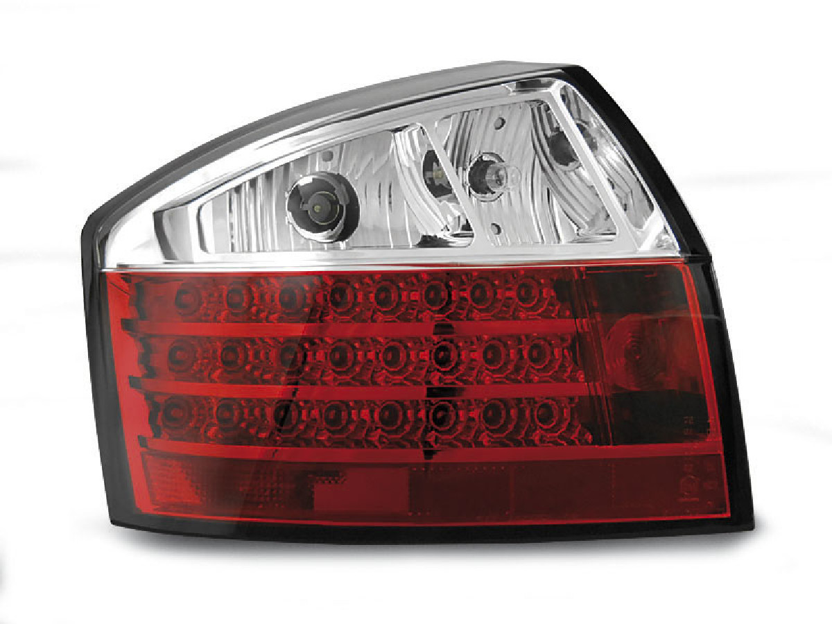 LED TAIL LIGHTS RED WHITE fits AUDI A4 10.00-10.04