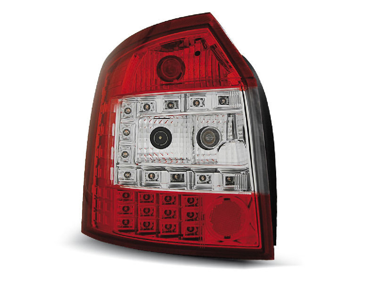 LED TAIL LIGHTS RED WHITE fits AUDI A4 10.00-10.04 AVANT