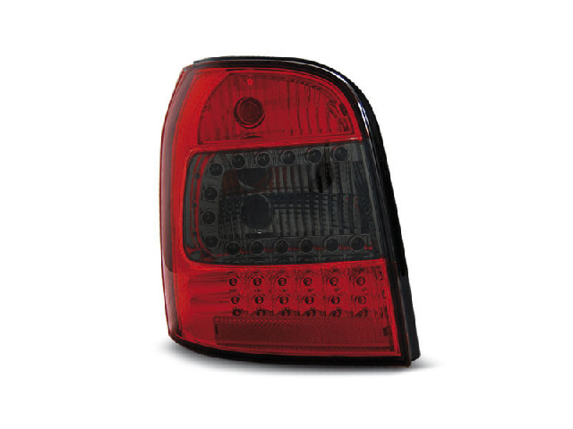 LED TAIL LIGHTS RED SMOKE fits AUDI A4 94-01 AVANT