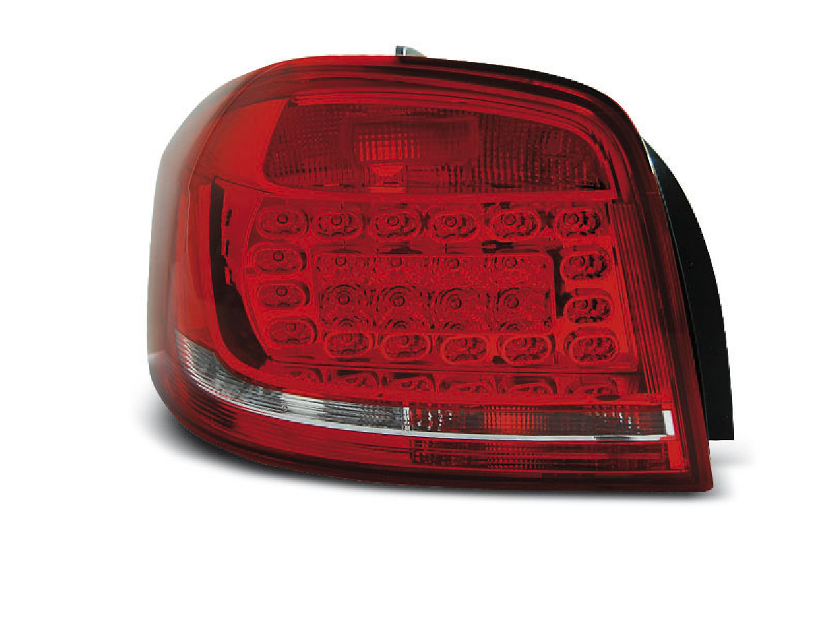 LED TAIL LIGHTS RED WHITE fits AUDI A3 08-12