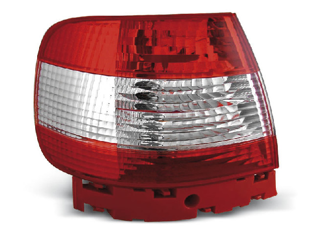TAIL LIGHTS RED WHITE fits AUDI A4 11.94-09.00