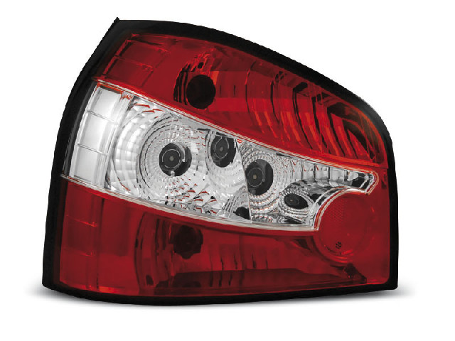 TAIL LIGHTS RED WHITE fits AUDI A3 8L 08.96-08.00