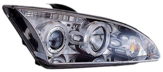 Angel Eyes Scheinwerfer Ford Focus mk2 05-08 Chrom V2