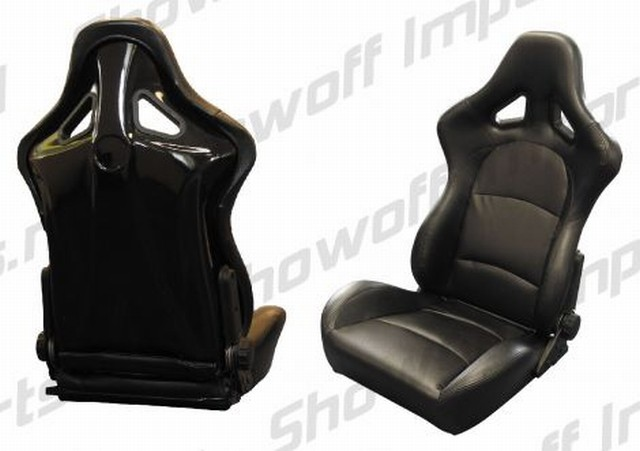 SPL-Tuning Adjustable Racing Seat Black PVC +Fiberglass Back