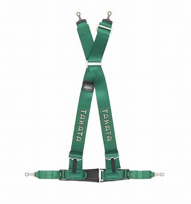 Takata Renn-Sicherheitsgurt DRIFT III 4-Point Green Bolt-on
