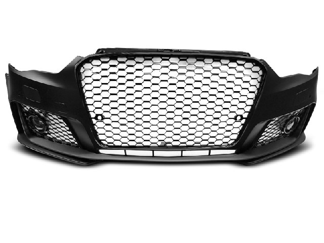 FRONT BUMPER SPORT GLOSSY BLACK PDC fits AUDI A3 12-16