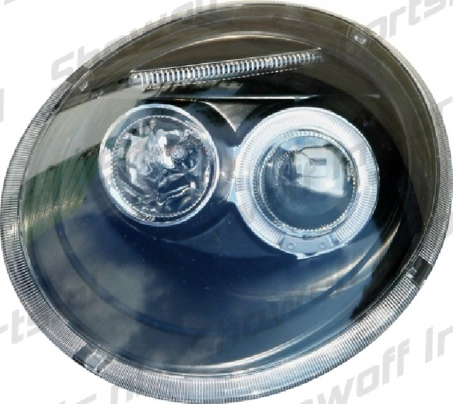 VW New Beetle Angel Eye Headlights Black V1