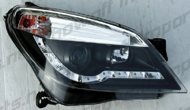 Opel Astra H 04+ R8 Style LED Headlights Black V1