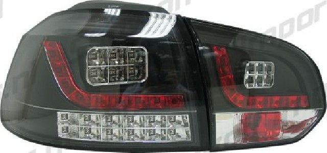 VW Golf 6 LED Taillights Set Black