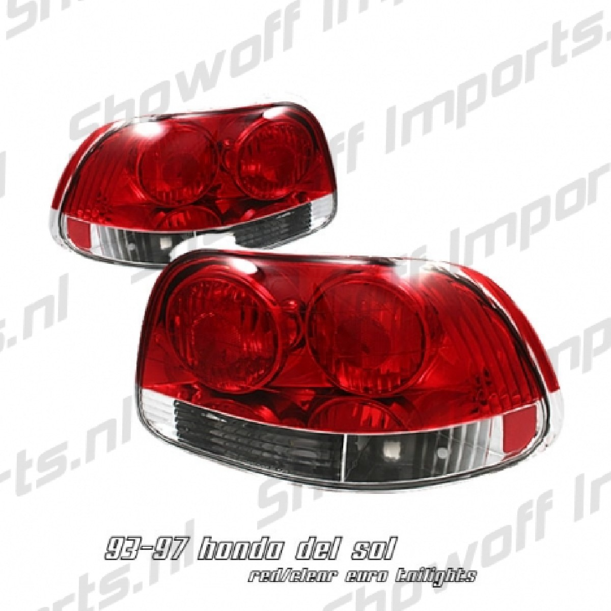 Honda Delsol 92-97 APC Look Red/Clear G6 Taillights