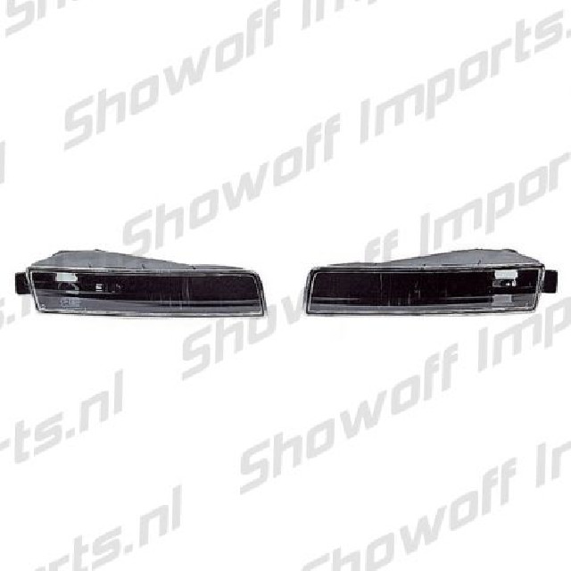 Honda Prelude 97+ EuroClear Black Housing Front Bumperlights
