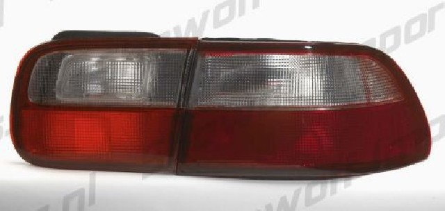 Honda Civic 92-95 2/4D Red/White Lens Taillights OEMStyle
