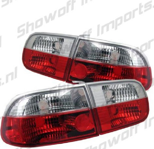 Honda Civic 92-95 2/4D Red/Clear G4 Taillights