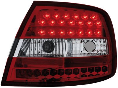 LED Rückleuchten Audi A4 B5 Lim. 95-10.00 red/crystal