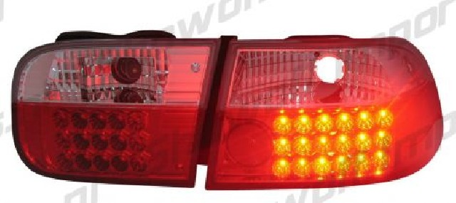 Honda Civic 92-95 2/4D Red/Clear G4 LED Taillights
